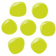 Vector illustration set of colouful refracting Glass balls