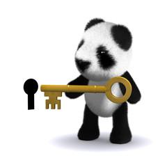 3d Teddy with key