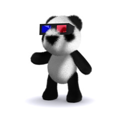 3d Teddy with 3d glasses