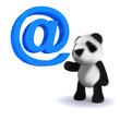 3d Email Panda bear