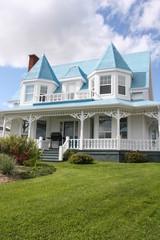 Typical house in Gaspé, Gaspésie, Quebec, Kanada