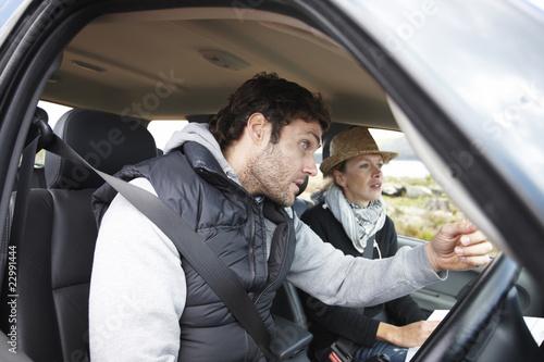Couple in their car