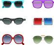 Sunglasses icon set 1
