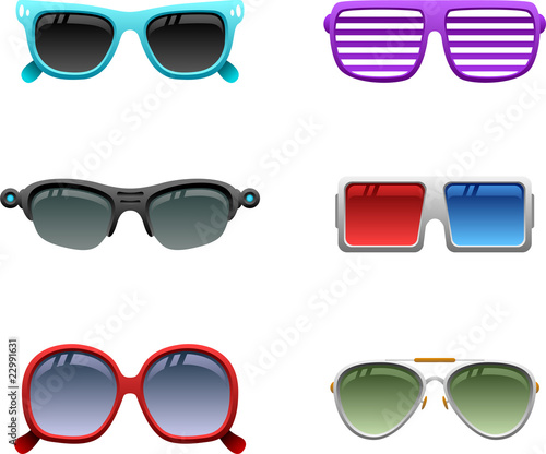 Sunglasses icon set 1