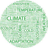 CLIMATE. Wordcloud illustration. poster