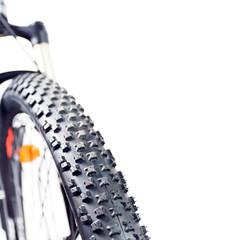 Mountain bike tire closeup