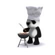 3d Panda barbeque