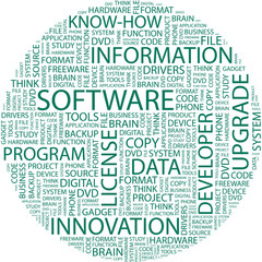 SOFTWARE. Word collage on white background.