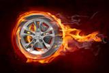 Fototapety Burning wheel