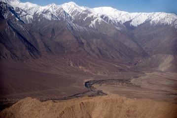 Indus River in front of the Zanskar Range, Ladakh, India