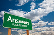 Answers Green Road Sign