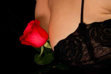 rose on breasts