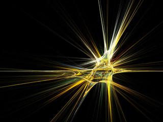 Fractal star burst on black background