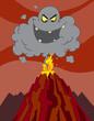 Evil Black Cloud Above An Erupting Volcano