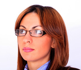 Young beautful woman with eyeglasses