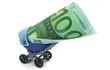 100 Euro in Kinderwagen