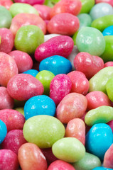 multicolored dragee drop candy  .