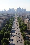 Fototapety la défense vue de l'arc de triomphe - Paris
