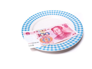 Money (RMB) on Plate
