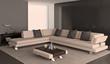 Modern interior of living-room.
