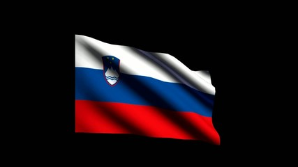 3D flag of Slovenia