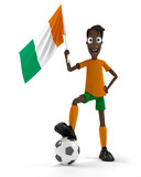Ivory Coast soccer player poster