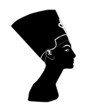 Black silhouette of Nefertiti