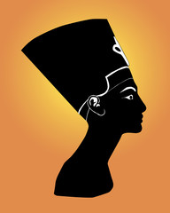 Black silhouette of Nefertiti