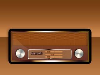 retro vintage oldschool radio