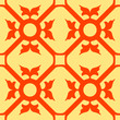 orange flowers seamless texture