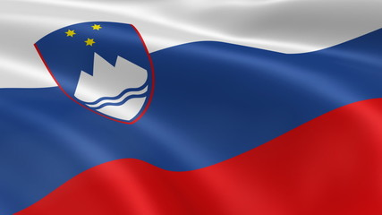 Slovenian flag in the wind