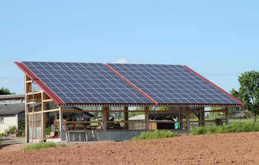 Großes Solarpanel