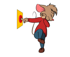 Cartoon mouse button