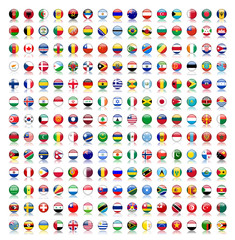 World Flag Buttons with reflection (flags translation version)