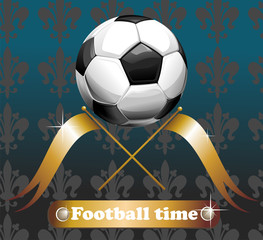 Football background with the ball 1