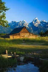 Mormon barn in the Tetons