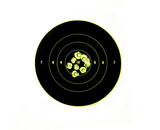 bullet holes in targets displaying precision shooting poster