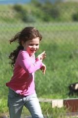 Mädchen rennt