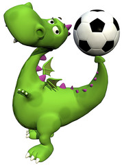 footballer dino baby dragon - ball on tail