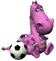 footballer dino baby pink dragon - lost the game