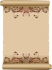 Pergamena Decorata-Decorated Parchment Background-Vector-2
