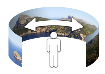 Símbolo panorama 360