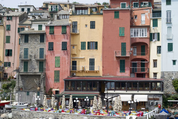 Ancient harbour of Portovenere in Italy