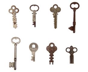 Pile of vintage keys
