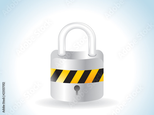 abstract glossy lock icon
