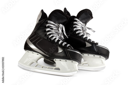 black skates isolated on white