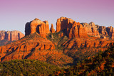 Sunset on Cathedral Rock near Sedona, Arizona.