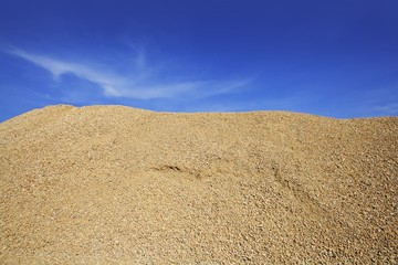 concrete yellow gravel sand quarry mountain