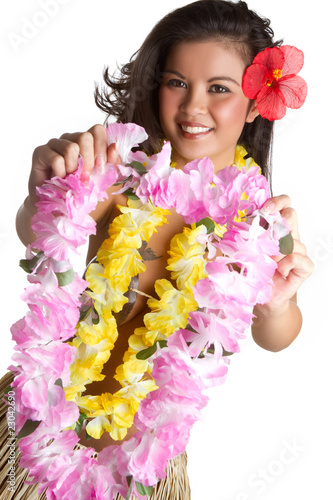 Tropical Flower Lei Woman