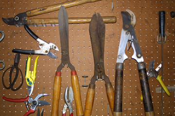 close up shot of different kinds of tool